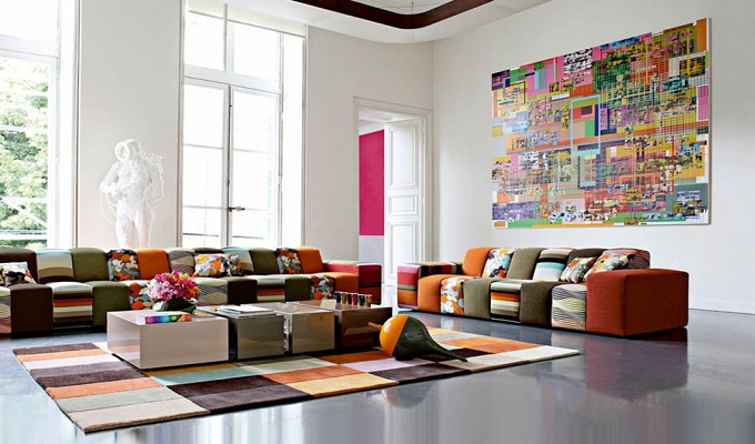 Colourful pieces to brighten your living room Colourful pieces to brighten your living room colorful living room