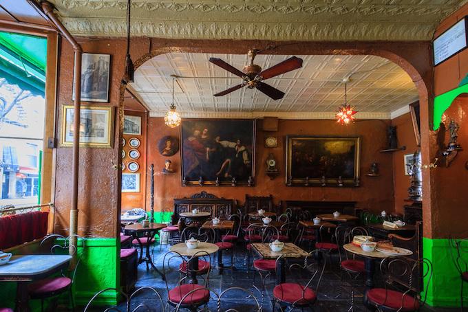 best coffee shops interior design in Manhattan- Caffe Regio