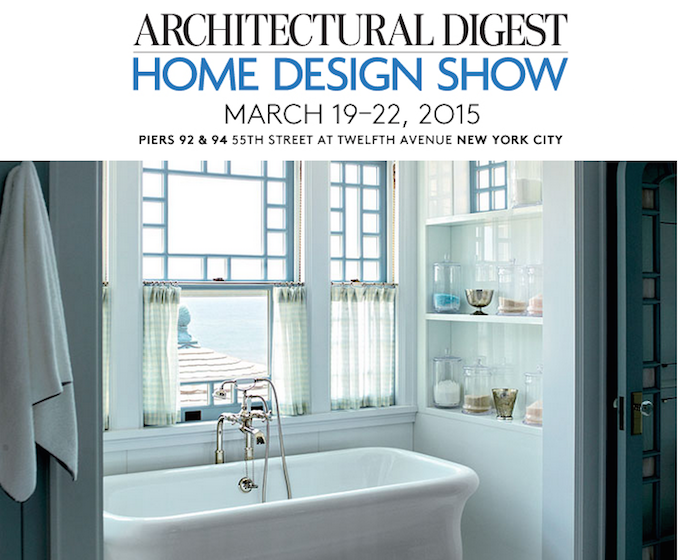 ARCHITECTURAL DIGEST HOME DESIGN SHOW 2015 ARCHITECTURAL DIGEST HOME DESIGN SHOW 2015 AD Show
