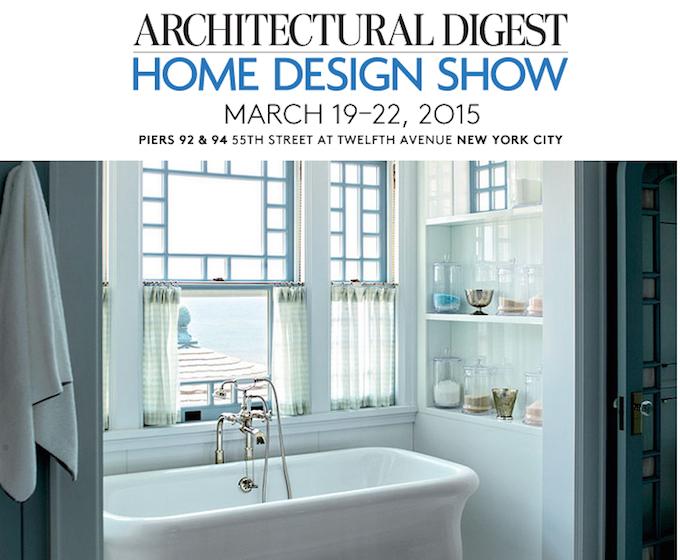 ARCHITECTURAL DIGEST HOME DESIGN SHOW 2015 ARCHITECTURAL DIGEST HOME DESIGN SHOW 2015 AD Show