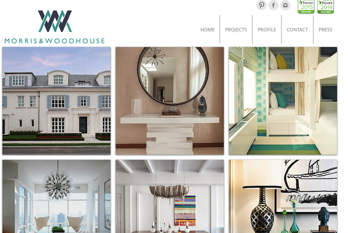 """Top NYC interior designer: Morris & Woodhouse Interiors llc"""
