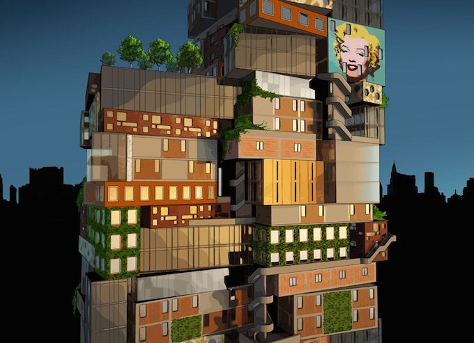 Alternative Tower for MoMA  by Axis Mundi Alternative Tower for MoMA  by Axis Mundi momatower main