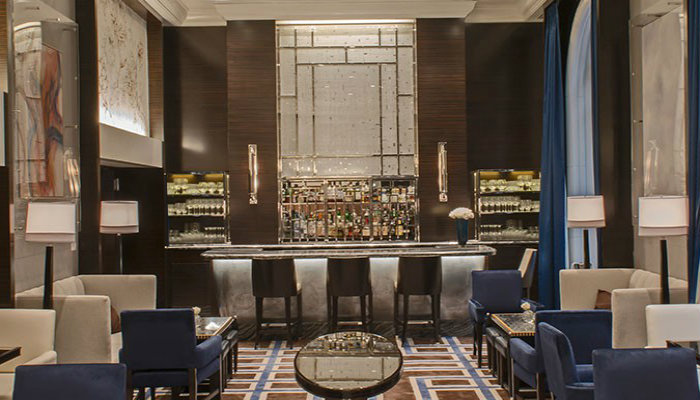 TOP 6 Interior projects by Bill Rooney Studio, Inc- Peninsula New York Gotham Lounge, NYC