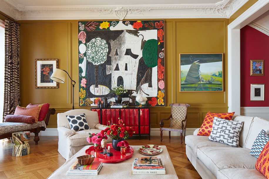 TOP 6 Interior projects by Hamilton Design Associates- Art-filled Townhouse