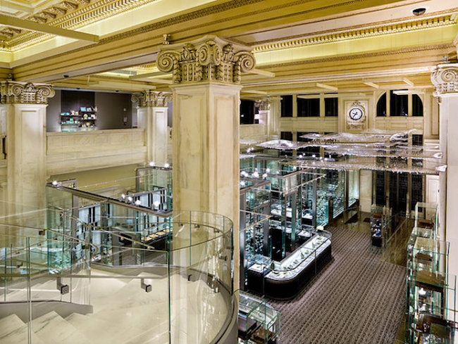 TED MOUDIS ASSOCIATES BEST INTERIOR DESIGN PROJECTS IN NY-Tiffany & Co. Wall Street