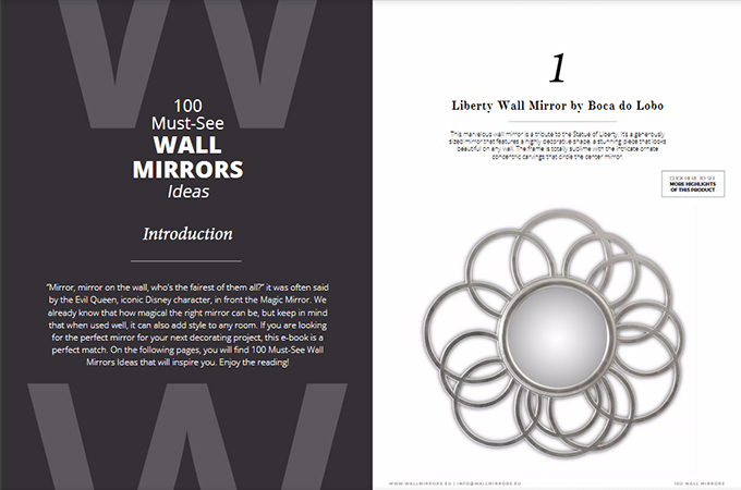 The Most Beautiful Wall Mirrors for a Unique Home Décor Home Décor The Most Beautiful Wall Mirrors for a Unique Home Décor capa deco 3