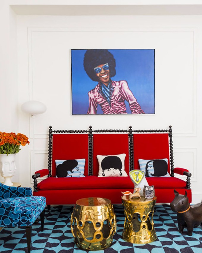 interior design trends 4th of July: The Designers Setting Interior Design Trends 10 Chic Ways to Decorate in Red White Blue 4th of July Design living room 1