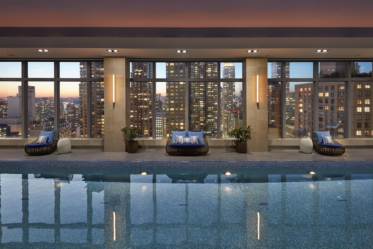 boutiques, luxurious hotels, city guide, covet new york, design, interior design, lifestyle, luxury city guide, luxury decor, luxury design, new york, new York city, nyc, architecture, guide, lifestyle, living guide, luxury design, luxury guide, luxury hotels, luxury projects, luxury restaurants, luxury showrooms, luxury stores, new york, new york city, new york city luxury guide, nyc, top interior designers, travel, hotels, restaurants, luxury restaurants, Luxury Lifestyle Living Guide, relax nyc luxury hotels Luxury Lifestyle Living Guide #1: NYC Luxury Hotels and Restaurants new york 2017 wellness pool dusk 02 1