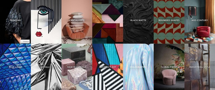 design trends, luxury brands, Metallic Black Matte, AD Show, Holographic Avant Garde, Art Deco Retro Vibe, IMM Cologne, Salone Del Mobile, Maison et Objet  design trends Design Trends For 2019 By Top Luxury Brands (Part I) trends