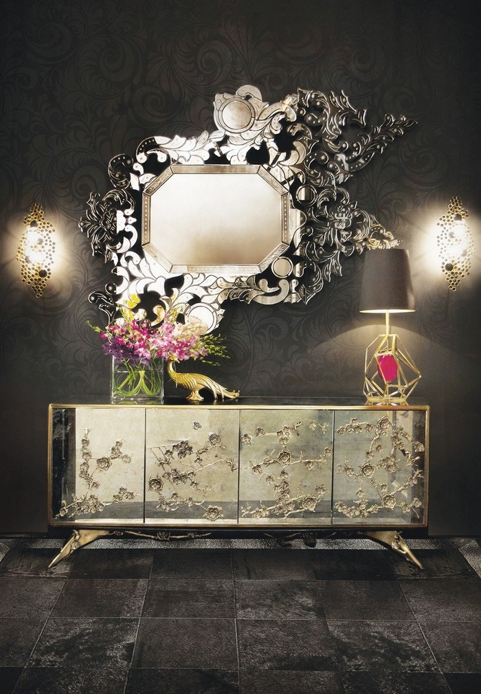 modern mirrors Modern Mirrors To Match Your Living Room Sideboard addicta