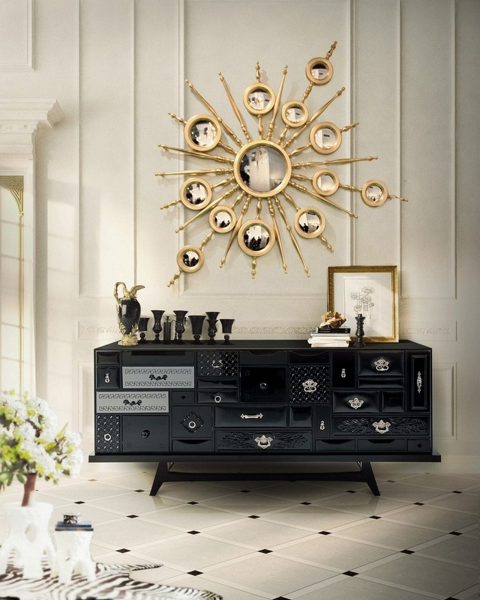 modern mirrors Modern Mirrors To Match Your Living Room Sideboard apollo