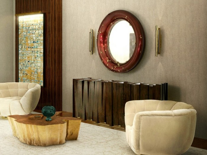 modern mirrors Modern Mirrors To Match Your Living Room Sideboard belize