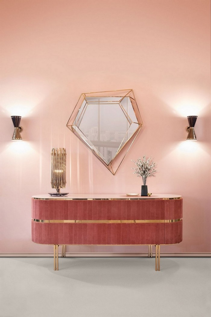 modern mirrors Modern Mirrors To Match Your Living Room Sideboard diamond
