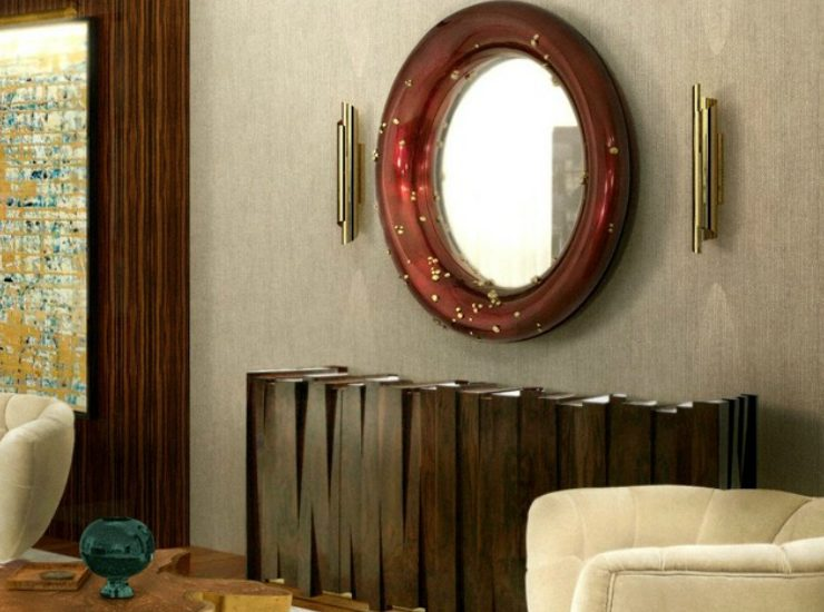 modern mirrors Modern Mirrors To Match Your Living Room Sideboard featue 740x550