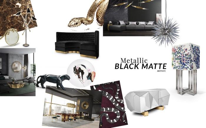 design trend Design Trend: Metallic Black Matte modernclassic hr