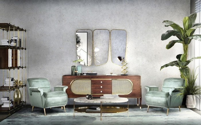 modern mirrors Modern Mirrors To Match Your Living Room Sideboard wilde 1