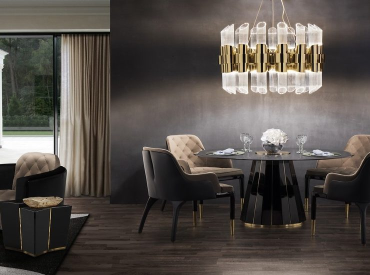 INTERIOR DESIGN TRENDS TO REFINE YOUR DINING ROOM IN 2020 dining rooms INTERIOR DESIGN TRENDS TO REFINE YOUR DINING ROOM IN 2020 mellow metallics2 740x550