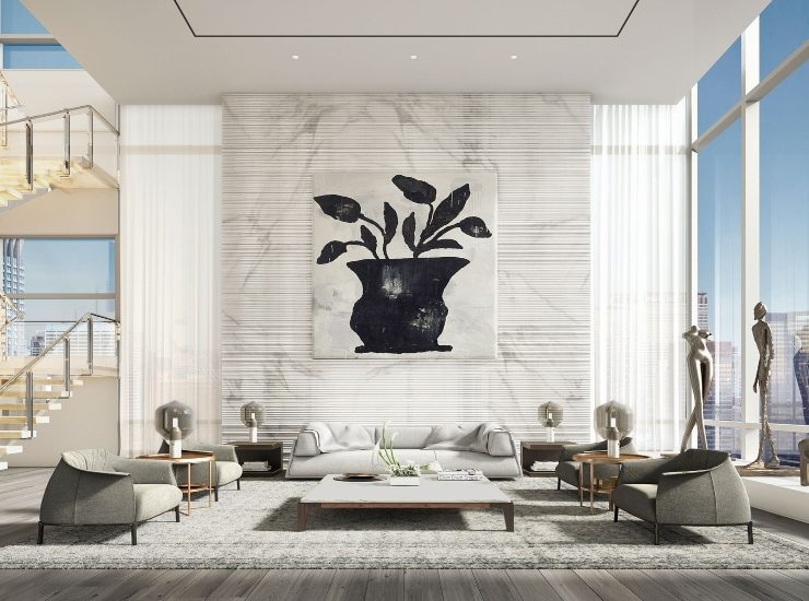 oda new york ODA NEW YORK CREATES OUTSTANDING PENTHOUSE DESIGN RP 172 MAD 01 LIVRM P7 FINAL SML 8 740x550